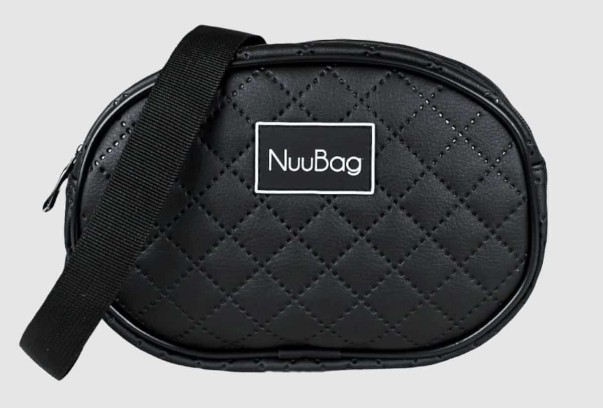 Czarna nerka saszetka. Wykonana ręcznie w Polsce. Polska marka NuuBag.