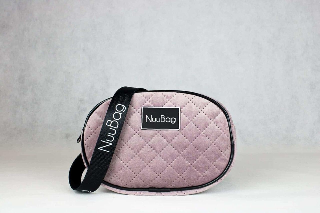 Różowa nerka welurowa. Wykonana ręcznie w Polsce. Polska marka hnadmade NuuBag