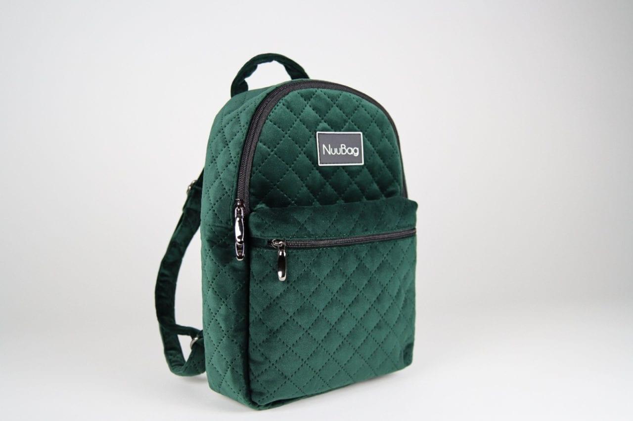 Zielony plecak damski