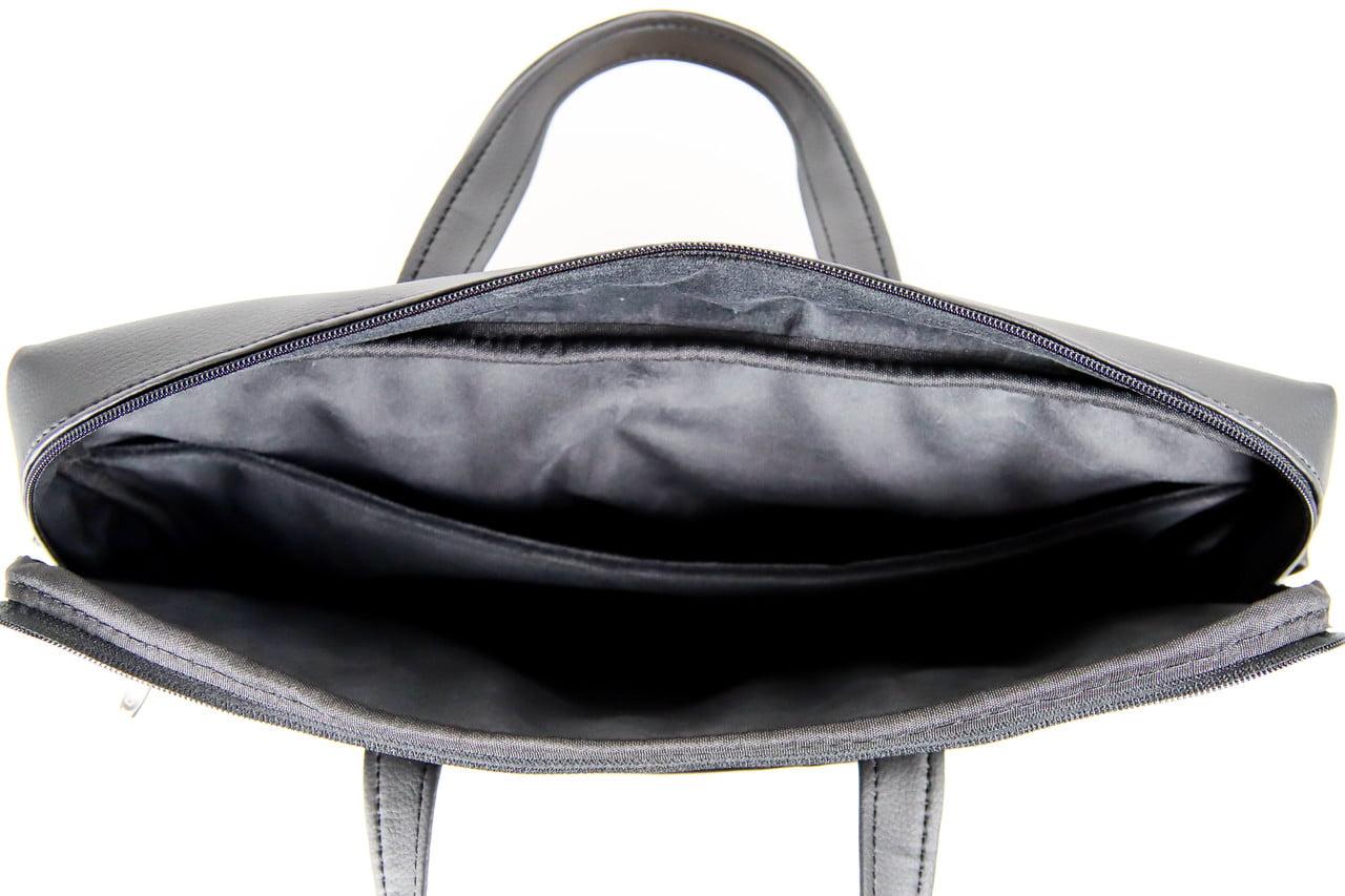 Czarna torba na laptopa. Aktówka