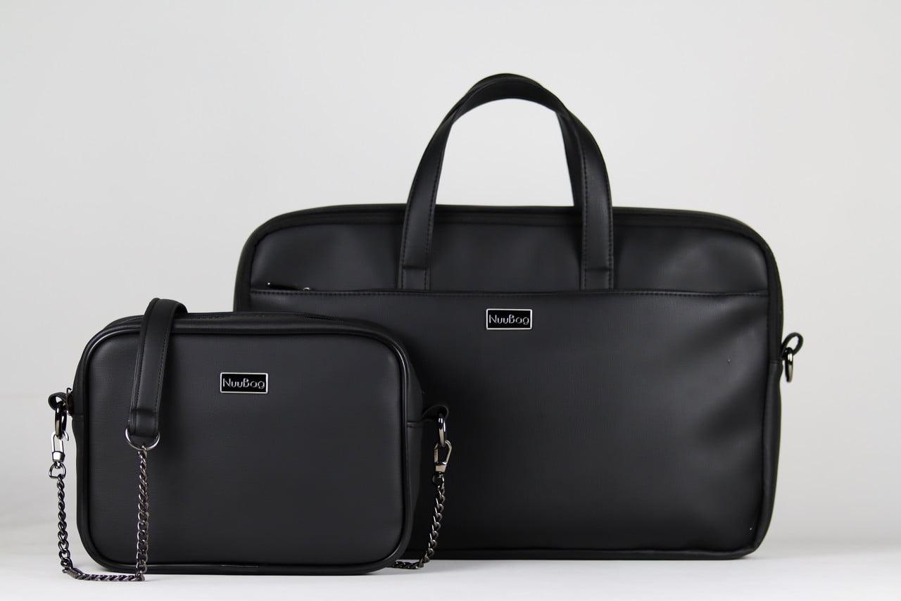 Czarne torebki i torby na laptopa