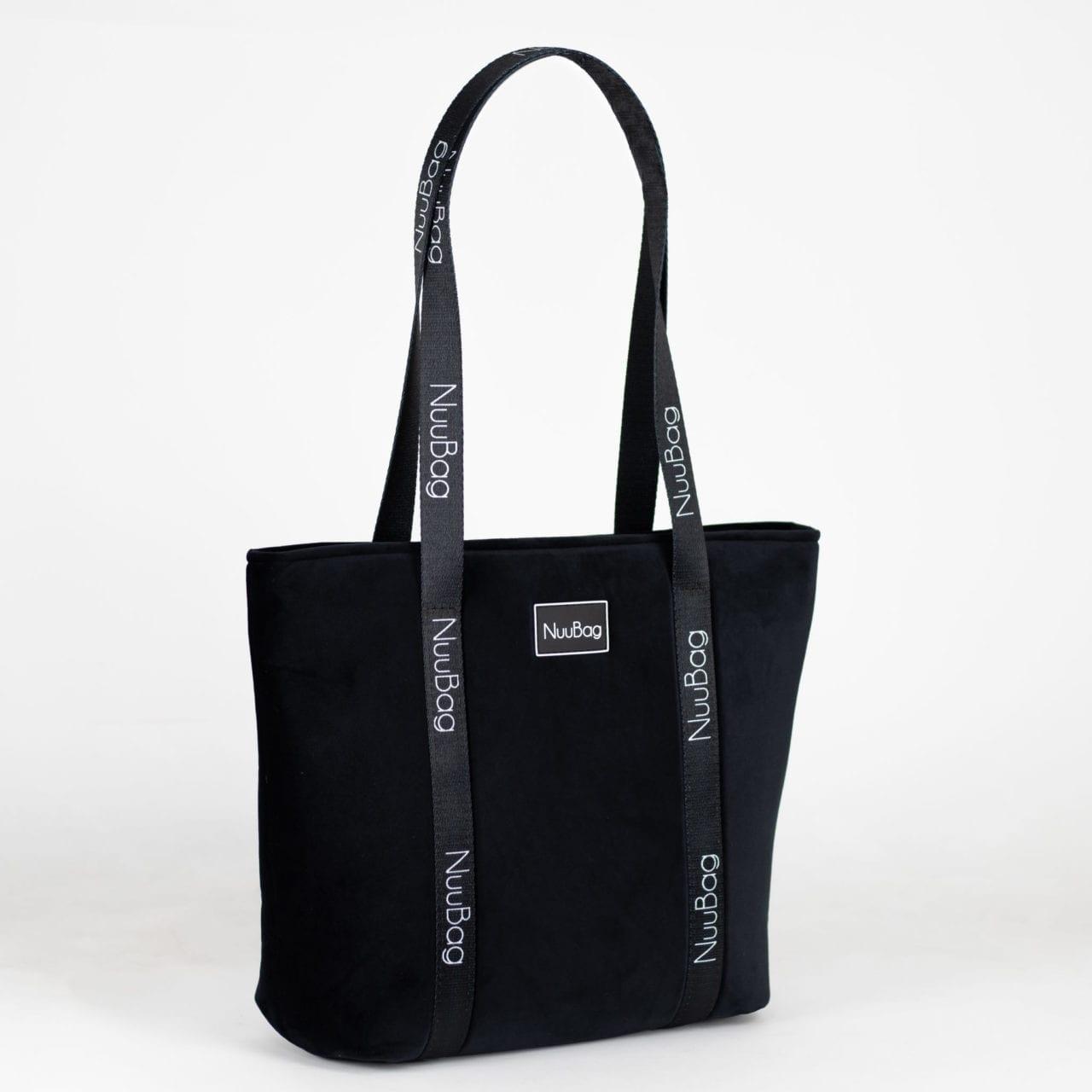 Czarna torba na zakupy, torebka shopperka